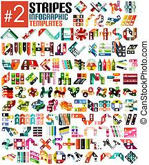 Riesiges Set von stripe infographic templates #2.