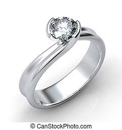 Ring mit isoliertem Diamanten