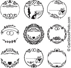 ringe, rahmen, runder , wedding