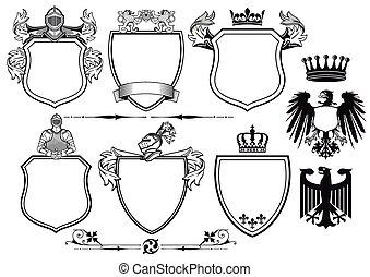 ritter, königlich, arme, mantel