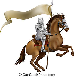 Ritter mit Speer und Banner