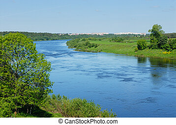 River Western dvina in belarus