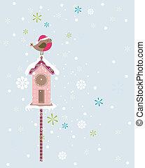 Robin-Weihnachtsvogel