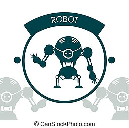 roboter, ikone, design