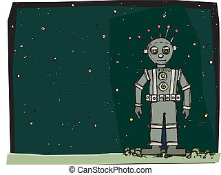 roboter, raum