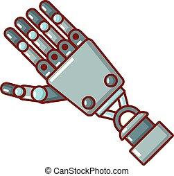 Roboterarm-Ikone, Zeichentrickfilm.