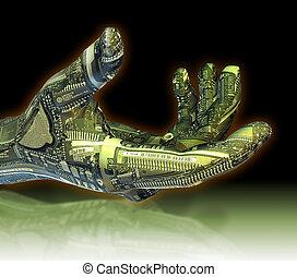 robotic, hand