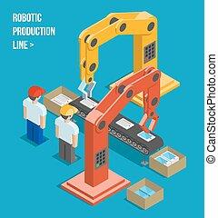 Robotische Produktionslinie