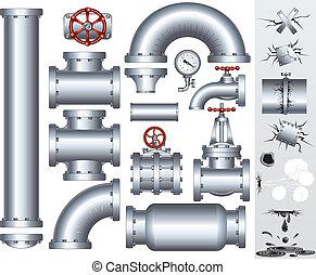 rohrleitung, industrie