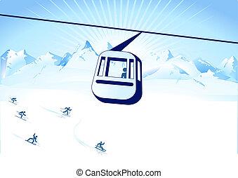 Rollbahn und Wintersport