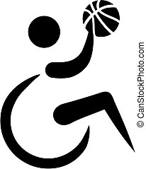 Rollstuhl-Basketball-Ikone.