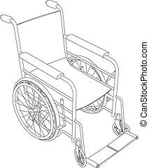 Rollstuhl-Overline-Vektor