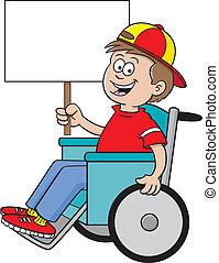 Rollstuhl-Schild