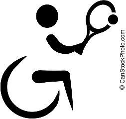 Rollstuhl-Tennis-Ikone.