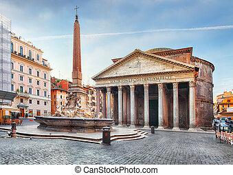 Rom - Pantheon, niemand.