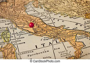 Rom und Italienische Landkarte