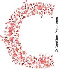 Romantische Blumenbrief C.