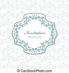 Romantische Einladung für Ihr Design.