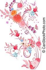 Romantische, elegante Blumenmuster für Ihr Design.