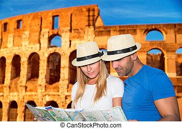 Romantische Ferien in Rom.