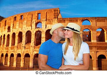 Romantische Ferien zu Rom, Italien.