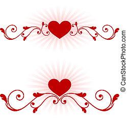 Romantische Herzen, Valentinstagsdesign-Hintergrund