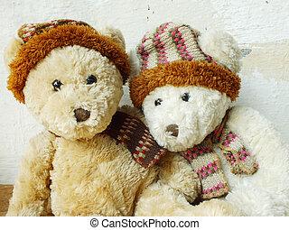 Romantische Teddybären.