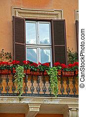 Romantischer Balkon, Rom