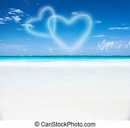 Romantischer Strandort
