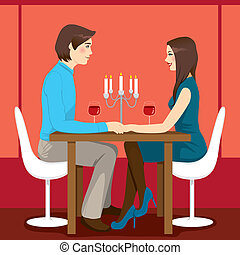 Romantisches Jubiläumsessen