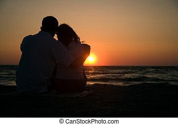 romanze, sonnenuntergang