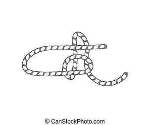 Rope Slipknot isoliert Vektor Icon