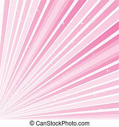 Rosa abstrakter Hintergrund mit Rstars, Vector Illustration Eps 10.0