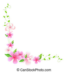 Rosa Blume und Wein