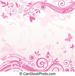 rosa, blumenbanner