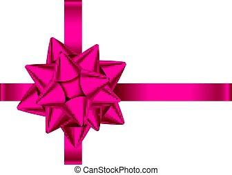 Rosa dekoratives Geschenkband und Bogen für Valentine, Muttertag.