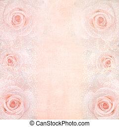 Rosa Hochzeitsgeschichte mit Rosen