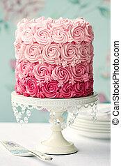 rosa, kuchen, ombre
