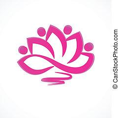 Rosa Lotusblumen-Ikonenvektor.