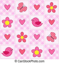 Rosa Muster