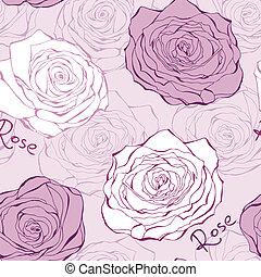 Rosa nahtloses Muster mit Rosen