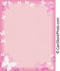 Rosa Schmetterlingsgrenze