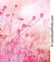 Rosa weiche Sommerwiese Hintergrund