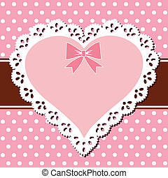 Rosafarbenes Herz
