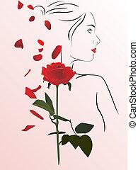 rose, frau