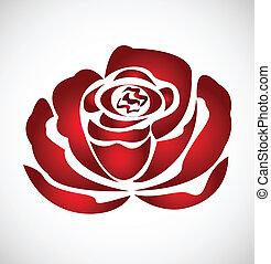 Rose Silhouette Logo Vektor.