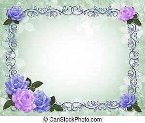Rosen an der Grenze zur Hochzeitseinladung