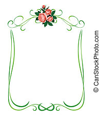 Rosen rahmen Hintergrund