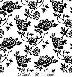 rosen, weißes, schwarz