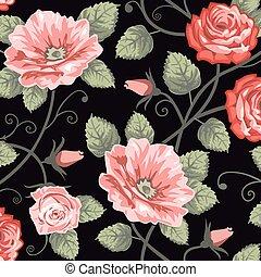 Roses nahtloser Hintergrund